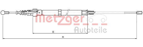 OE Original Handbremse 10.7508 METZGER