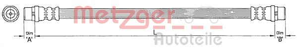 Bremsschlauch METZGER 4110364