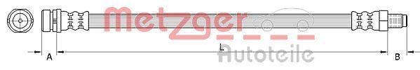 Bremsschläuche METZGER 4110992