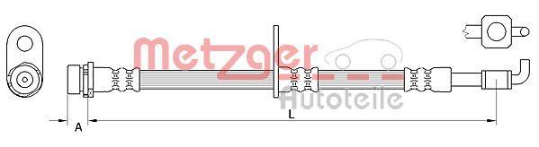 Bremsschlauch METZGER 4111040