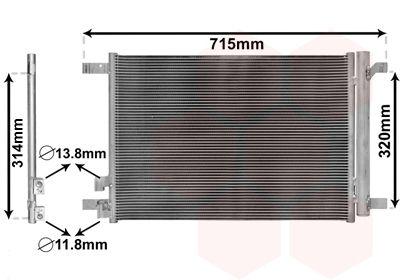 Acquistare ricambi originali VAN WEZEL Condensatore, Climatizzatore 58005335