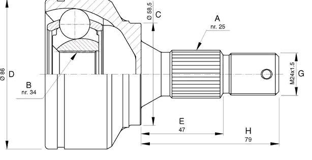 LPR Gelenksatz, Antriebswelle KPG776