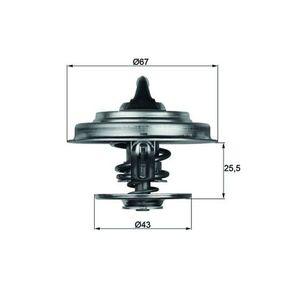 TX 18 87D Thermostat, Kühlmittel MAHLE ORIGINAL Test