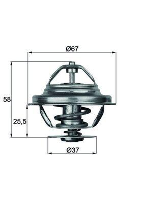 MAHLE ORIGINAL Thermostat, Kühlmittel TX 20 80D