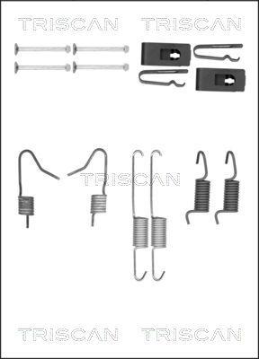Zubehörsatz, Bremsbacken 8105 102613 Nissan QASHQAI 2011