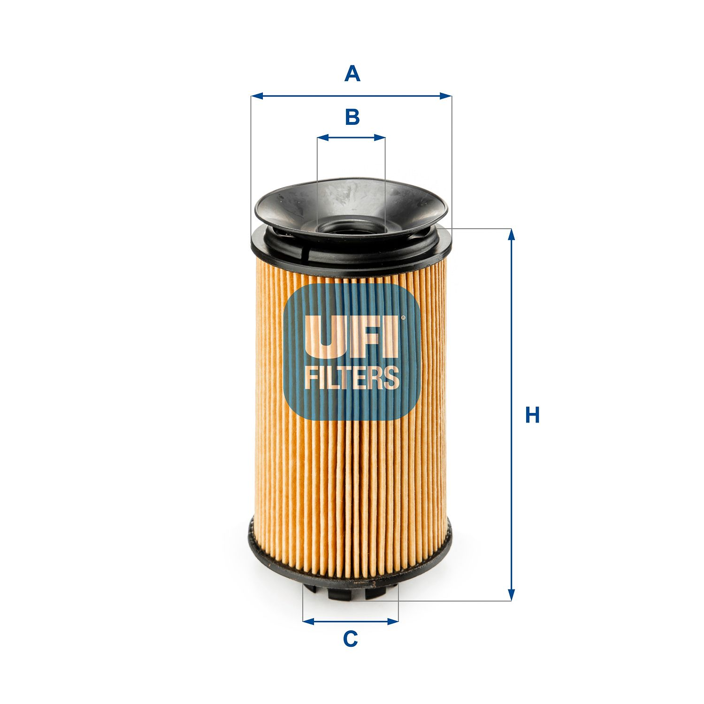 UFI Filtr oleju do MITSUBISHI - numer produktu: 25.092.00