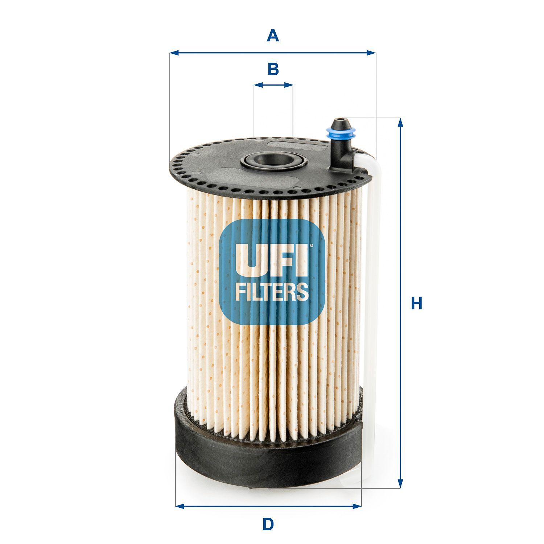 Skoda SUPERB UFI Palivový filtr 26.031.00