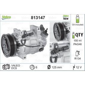 813147 VALEO PAG 46, Kältemittel: R 134a, mit PAG-Kompressoröl, NEW ORIGINAL PART Riemenscheiben-Ø: 125mm Kompressor, Klimaanlage 813147 günstig kaufen