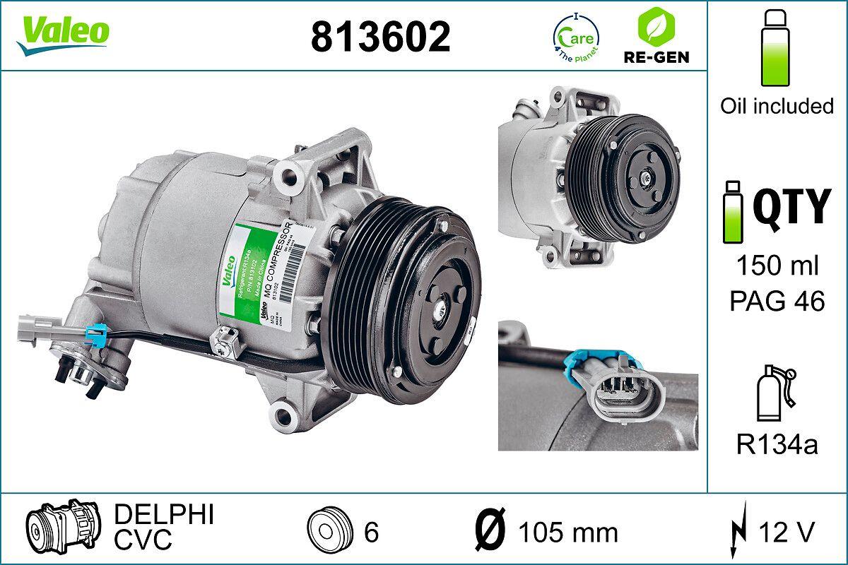 Acheter Compresseur de climatisation Poulies-Ø: 109mm, Nombre de gorges: 6 VALEO 813602 à tout moment