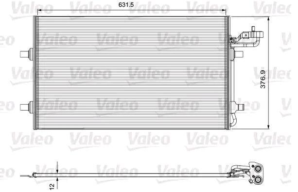 VALEO: Original Klimakühler 814324 (Kältemittel: R 134a)