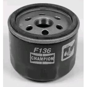 Comprare COF100136S CHAMPION Filtro ad avvitamento Ø: 76mm, Alt.: 52mm Filtro olio COF100136S poco costoso