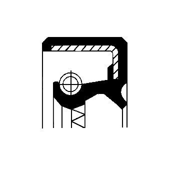 OPEL CORSA Verteilergetriebe Einzelteile - Original CORTECO 12036368B