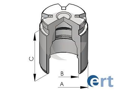ERT: Original Kolben, Bremssattel 150523-C ()