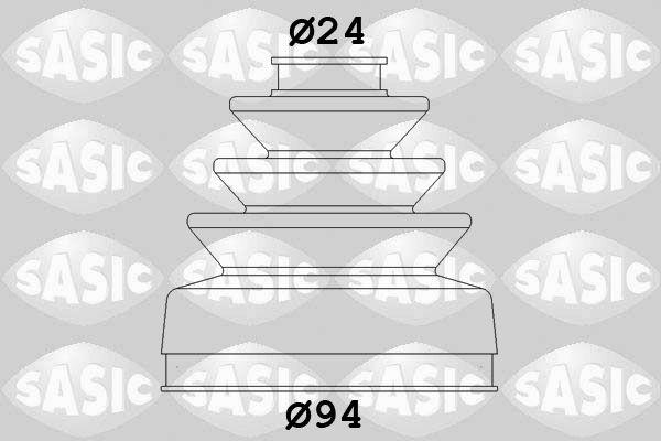Faltenbalgsatz Antriebswelle PASCAL G6C002PC