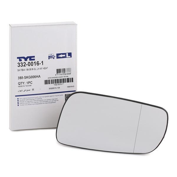 332-0016-1 TYC links Spiegelglas, Außenspiegel 332-0016-1 günstig kaufen