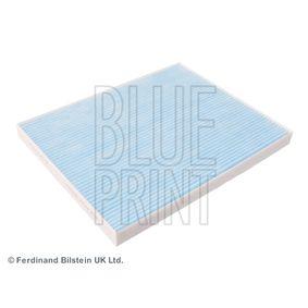 Купете BLUE PRINT поленов филтър ширина: 215,0мм, височина: 21мм, дължина: 265мм Филтър, въздух за вътрешно пространство ADZ92507 евтино