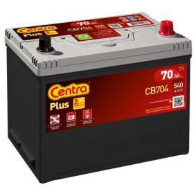 CB704 CENTRA Plus Batterikapacitet: 70Ah Köldstartström EN: 540A, Spänning: 12V, Polställning: 0 Batteri CB704 köp lågt pris