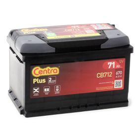 CB712 CENTRA Plus Batterikapacitet: 71Ah Köldstartström EN: 670A, Spänning: 12V, Polställning: 0 Batteri CB712 köp lågt pris