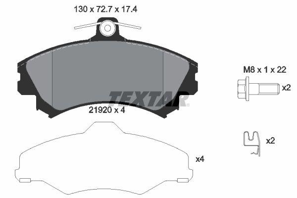 Bremsbelagsatz Scheibenbremse TEXTAR 2192003