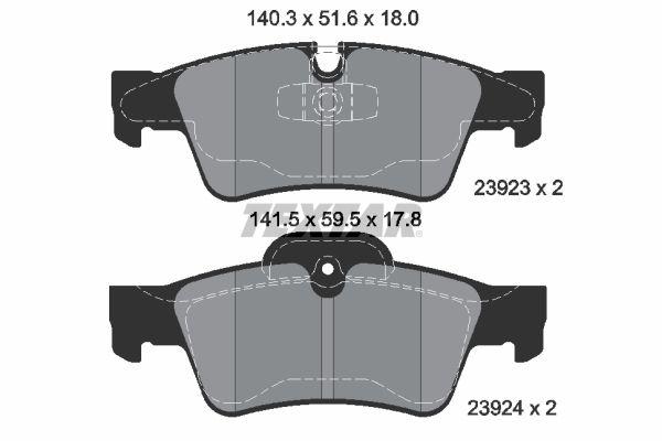 2392301 TEXTAR Bremsbelagsatz, Scheibenbremse billiger online kaufen