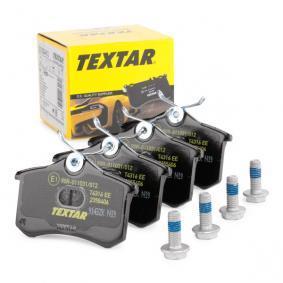 9029D1798 TEXTAR nicht für Verschleißwarnanzeiger vorbereitet, mit Bremssattelschrauben Höhe: 53mm, Breite: 87mm, Dicke/Stärke: 16,2mm Bremsbelagsatz, Scheibenbremse 2355406 günstig kaufen