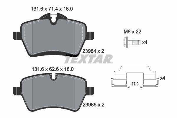 Bremsbelagsatz TEXTAR 2398401