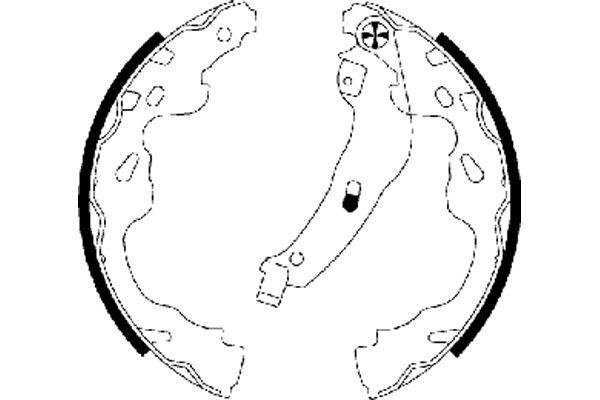 98101064504 TEXTAR Ø: 200mm, mit Handbremshebel Breite: 32mm Bremsbackensatz 91064500 günstig kaufen