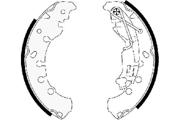 98101065304 TEXTAR Ø: 203,2mm, mit Handbremshebel Breite: 38mm Bremsbackensatz 91065300 günstig kaufen