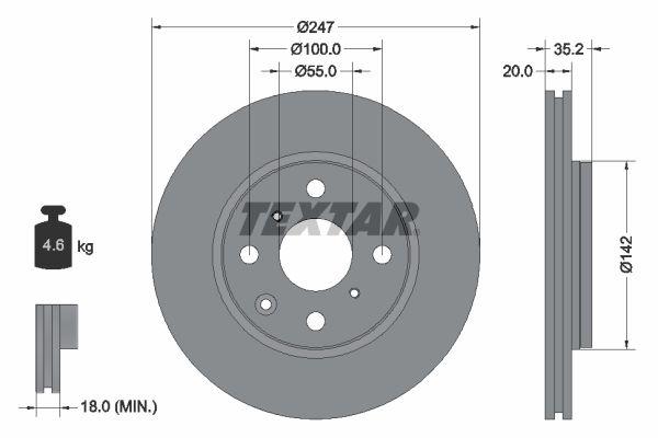 TEXTAR Bremsscheibe 92141900