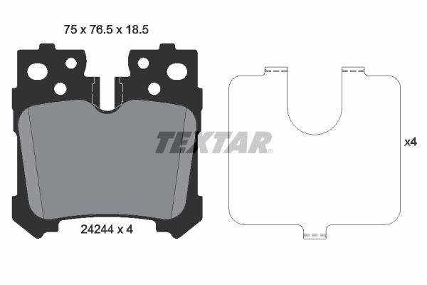Buy original Brake pads TEXTAR 2424401