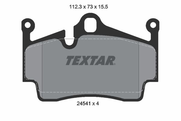 PORSCHE BOXSTER 2004 replacement parts: Brake Pad Set, disc brake TEXTAR 2454101 at a discount — buy now!