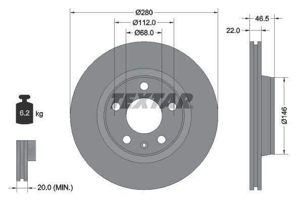 92083505 TEXTAR Stabdžių diskas - įsigyti internetu
