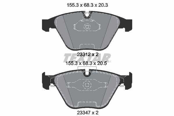 Bremsbelagsatz TEXTAR 2331207
