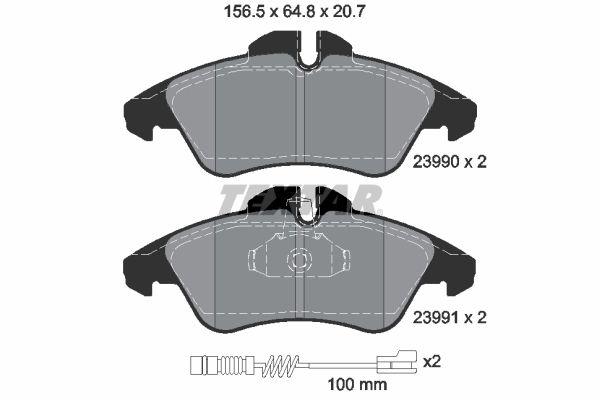 2399002 TEXTAR Bremsbelagsatz, Scheibenbremse billiger online kaufen