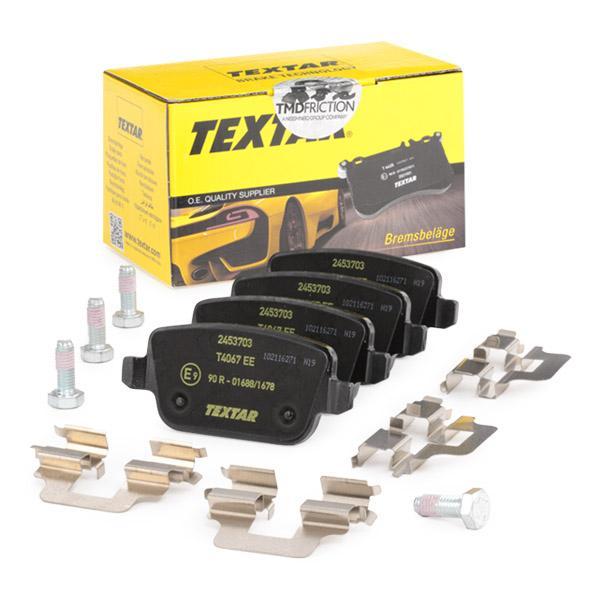 TEXTAR | Bremsbelagsatz, Scheibenbremse 2453703