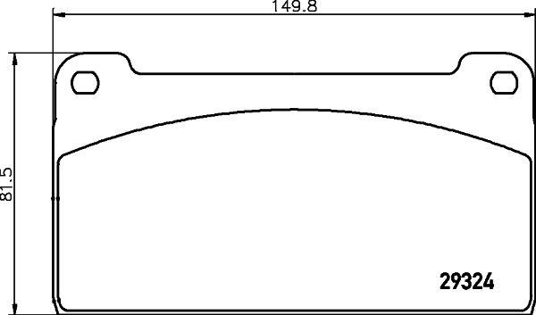 2932403 TEXTAR Bremsbelagsatz, Scheibenbremse billiger online kaufen