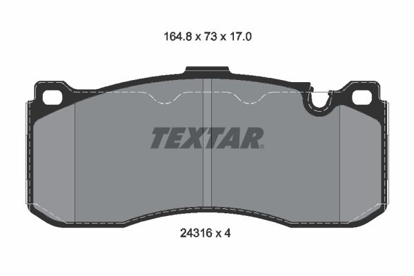 Bremsbeläge TEXTAR 2431601