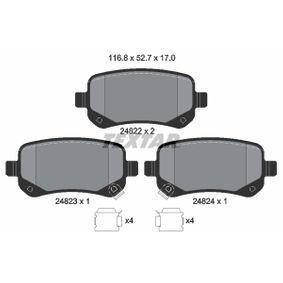 8438D1326 TEXTAR mit akustischer Verschleißwarnung Höhe: 52,7mm, Breite: 116,8mm, Dicke/Stärke: 17mm Bremsbelagsatz, Scheibenbremse 2482201 günstig kaufen
