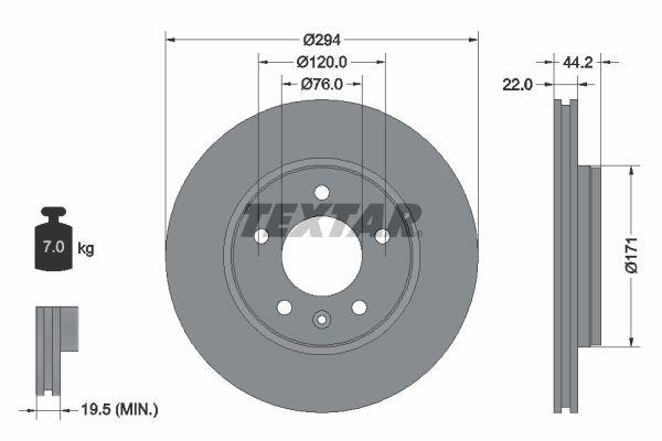 VW Disque d'Origine 92121403