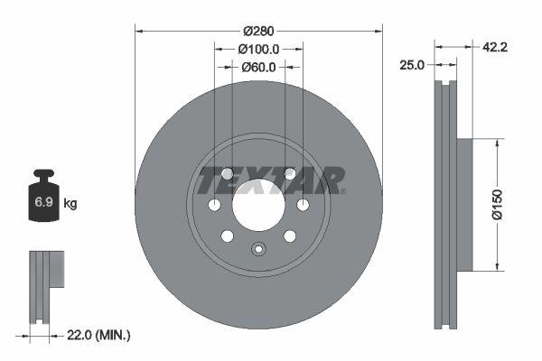 Originali Set dischi freni 92124603 Chevy