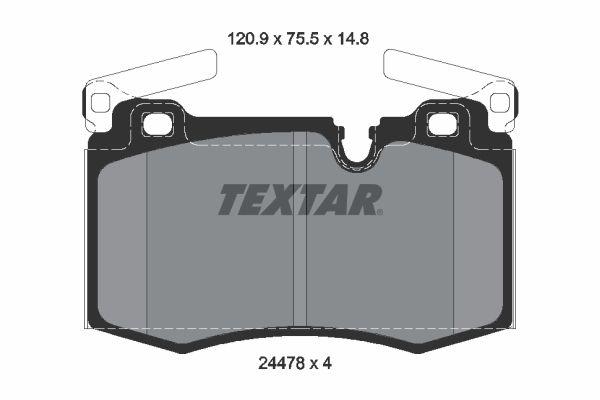 Bremsbelagsatz TEXTAR 2447801