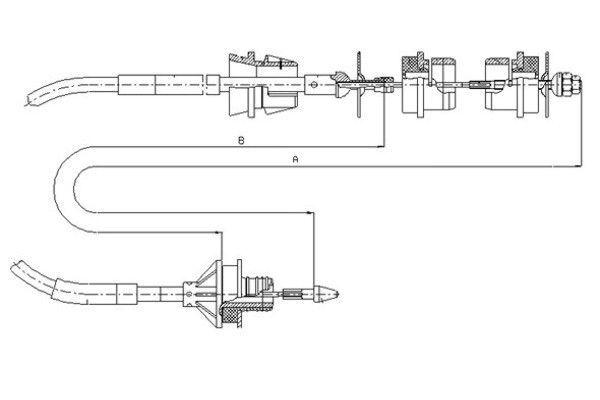 Kupplungsseilzug TEXTAR 58003400