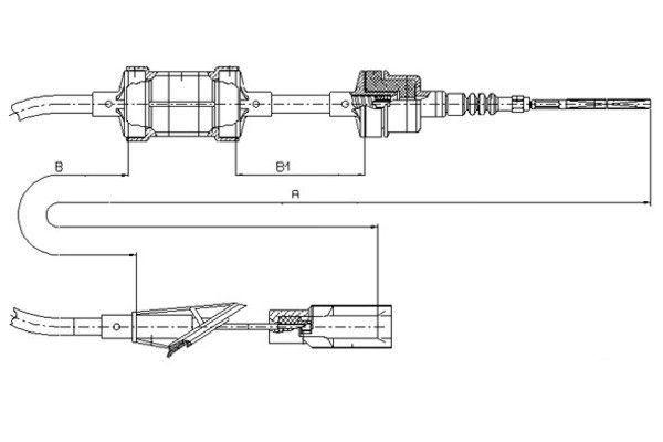 Kupplungsseilzug TEXTAR 58005500