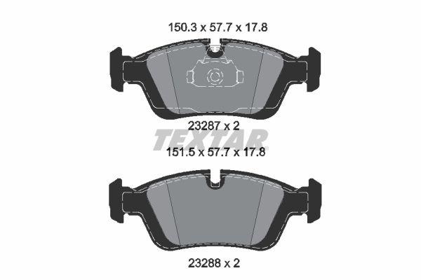 2328781 TEXTAR Bremsbelagsatz, Scheibenbremse Bewertung