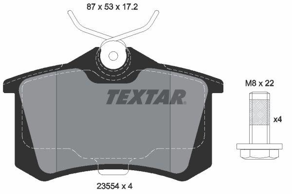 2355481 Bremsbelagsatz TEXTAR - Markenprodukte billig