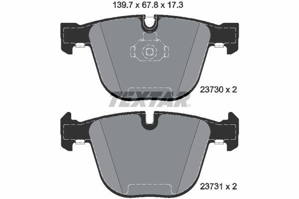 Bremsklötze TEXTAR 2373081