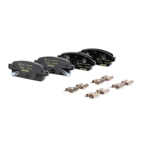 2509602 Bremsbeläge Q+ TEXTAR 25098 - Große Auswahl - stark reduziert