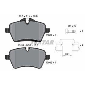 Textar Bremsbeläge hinten Mazda RX 8 2,6 Wankel Bj 10//03-06//12 NBK-Bremse