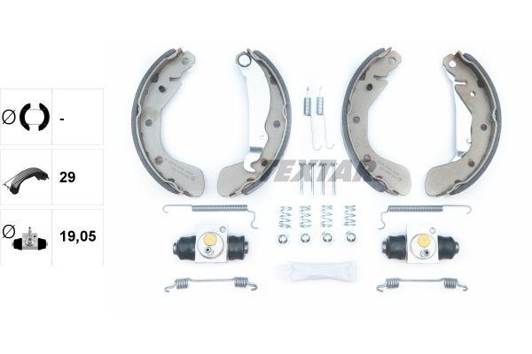 83101058114 TEXTAR Shoe Kit Bremsbackensatz 83058100 günstig kaufen