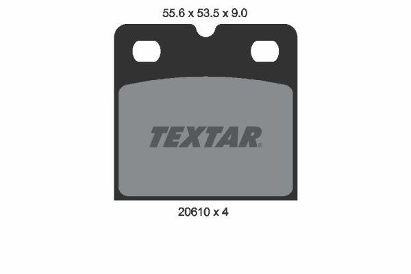 OE Original Handbremse 2061005 TEXTAR